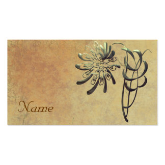 Ornamental Chrysanthemum Pack Of Standard Business Cards