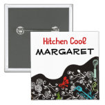 ornamental decorative kitchen utensils name tag 15 cm square badge