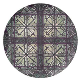 Ornamental decorative party plates