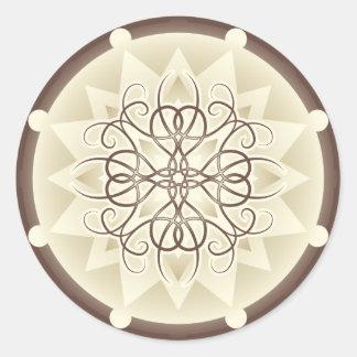Ornamental Design Sticker Round Sticker