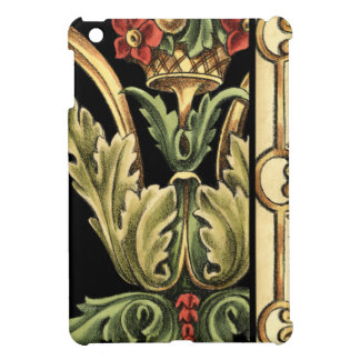Ornamental Floral Design with Black Borders Cover For The iPad Mini