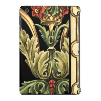 Ornamental Floral Design with Black Borders iPad Mini Retina Cases