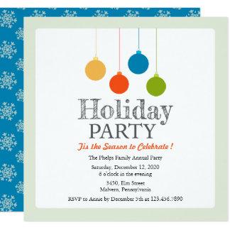 Ornamental Holiday/Christmas Party Invitation