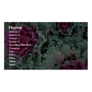 Ornamental kale, Nagoya, Japan Business Card Templates