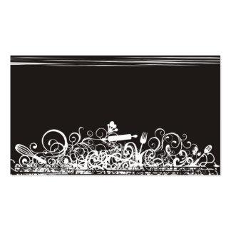 ornamental kitchen utensils business card black