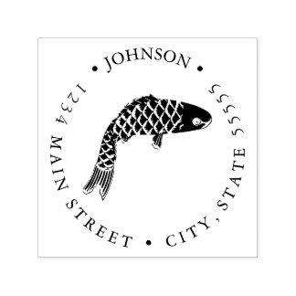 Ornamental Koi Fish Carp Return Label Self-inking Stamp