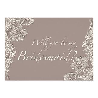 Ornamental Lace - Bridesmaid Invitation