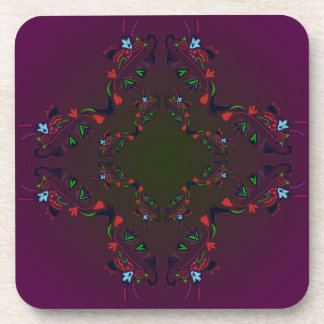 Ornamental Luxury Design cross / PURPLE Coaster
