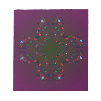 Ornamental Luxury Design cross / PURPLE Notepad