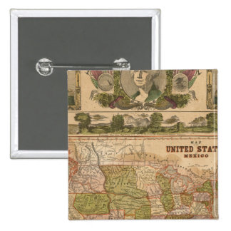 Ornamental Map of The United States and Mexico Pin