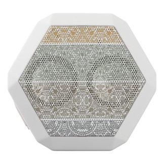Ornamental pattern white boombot rex bluetooth speaker