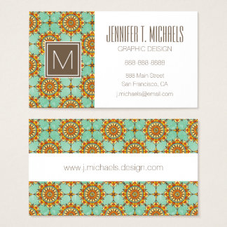 Ornamental pattern business card