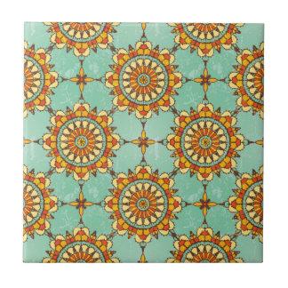 Ornamental pattern ceramic tile