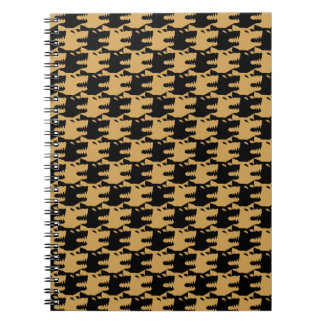 ornamental pattern wolf indomitable note books