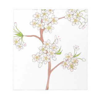Ornamental Pear Blossoms Watercolor Notepad