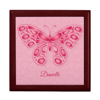 Ornamental Pink Butterfly Gift Box