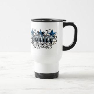 Ornamental Police Officer Stainless Steel Travel Mug