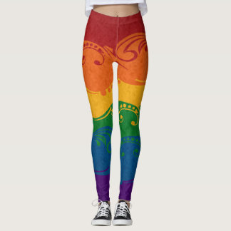Ornamental Rainbow Flag Leggings