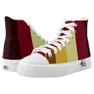 Ornamental Reds and Yellows High Tops