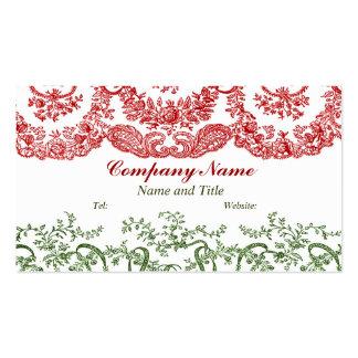 Ornamental Ribbon Design Business Card