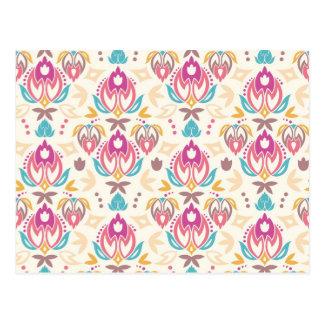 Ornamental summer pattern postcard