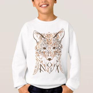 Ornamental tribal style fox silhouette sweatshirt