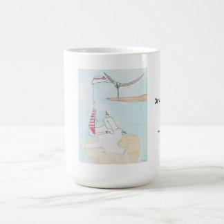 Ornamental view basic white mug