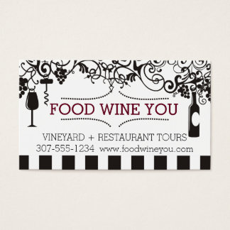 Ornamental wine charms food wine vineyard business card