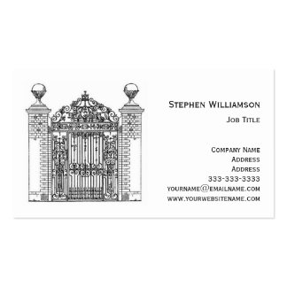 Ornamental Wrought Iron Metal Gate Architectural Pack Of Standard Business Cards
