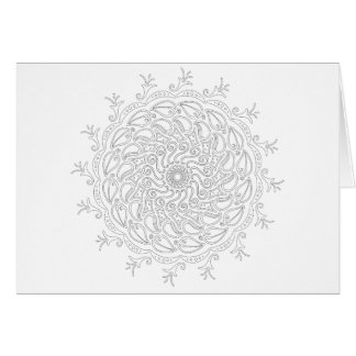 OrnaMENTALs #0009 Swirling Seasons Colour Your Own Card