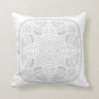 OrnaMENTALs #0019 Starburst Bling Color Your Own Cushion
