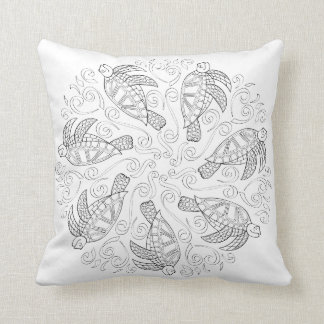 OrnaMENTALs #0026 Sea Turtle Splash Color Your Own Throw Cushions