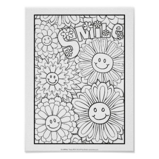 OrnaMENTALs #0116 Smile Colour Your Own Poster
