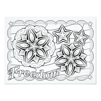 OrnaMENTALs Freedom Stars & Stripes Color Your Own Card