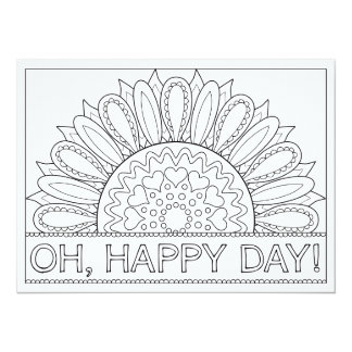 OrnaMENTALs Oh Happy Day Whimsical Colour Your Own Card