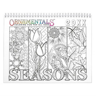 OrnaMENTALs Seasons Colouring Through the Year Wall Calendars