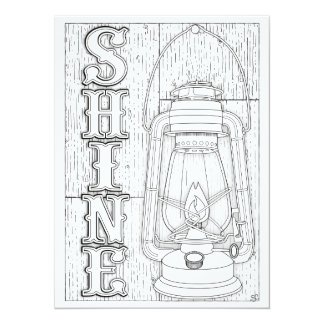 OrnaMENTALs Shine Antique Lantern Colour Your Own Card