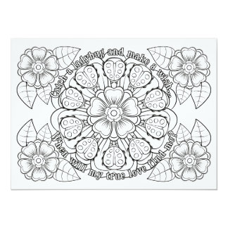 OrnaMENTALs True Love Ladybugs Color Your Own Card
