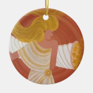"Ornamentation ""Abundantia"" the goddess of the abun Round Ceramic Decoration"