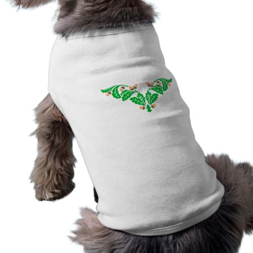 Ornamentation of oak sheets acorns oak leaves acor doggie shirt