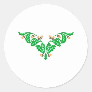 Ornamentation of oak sheets acorns oak leaves acor sticker