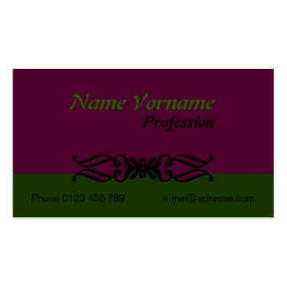 Ornamentation Pack Of Standard Business Cards