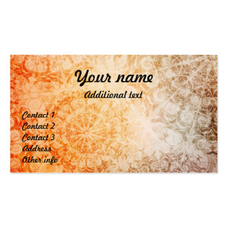 ornamented business card