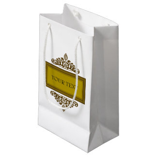 Ornamented Label Small Gift Bag