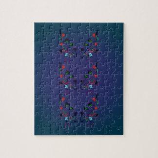 Ornamentos FOLK BLUE / Original illustration Jigsaw Puzzle