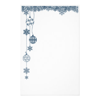 Ornaments and Snowflakes Christmas Stationery