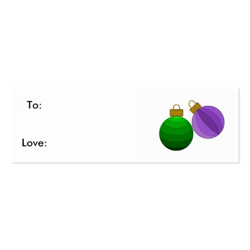 Ornaments Business Card