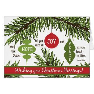 ORNAMENTS Folded Scripture Christmas Card-BLANK Card