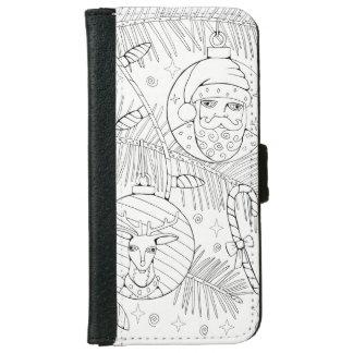Ornaments Line Art Design iPhone 6 Wallet Case