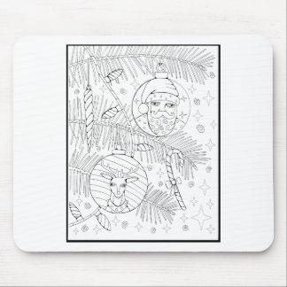 Ornaments Line Art Design Mouse Pad